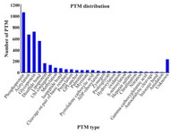 Figure 2. Number of post-translation types in the collected human seminal plasm proteome